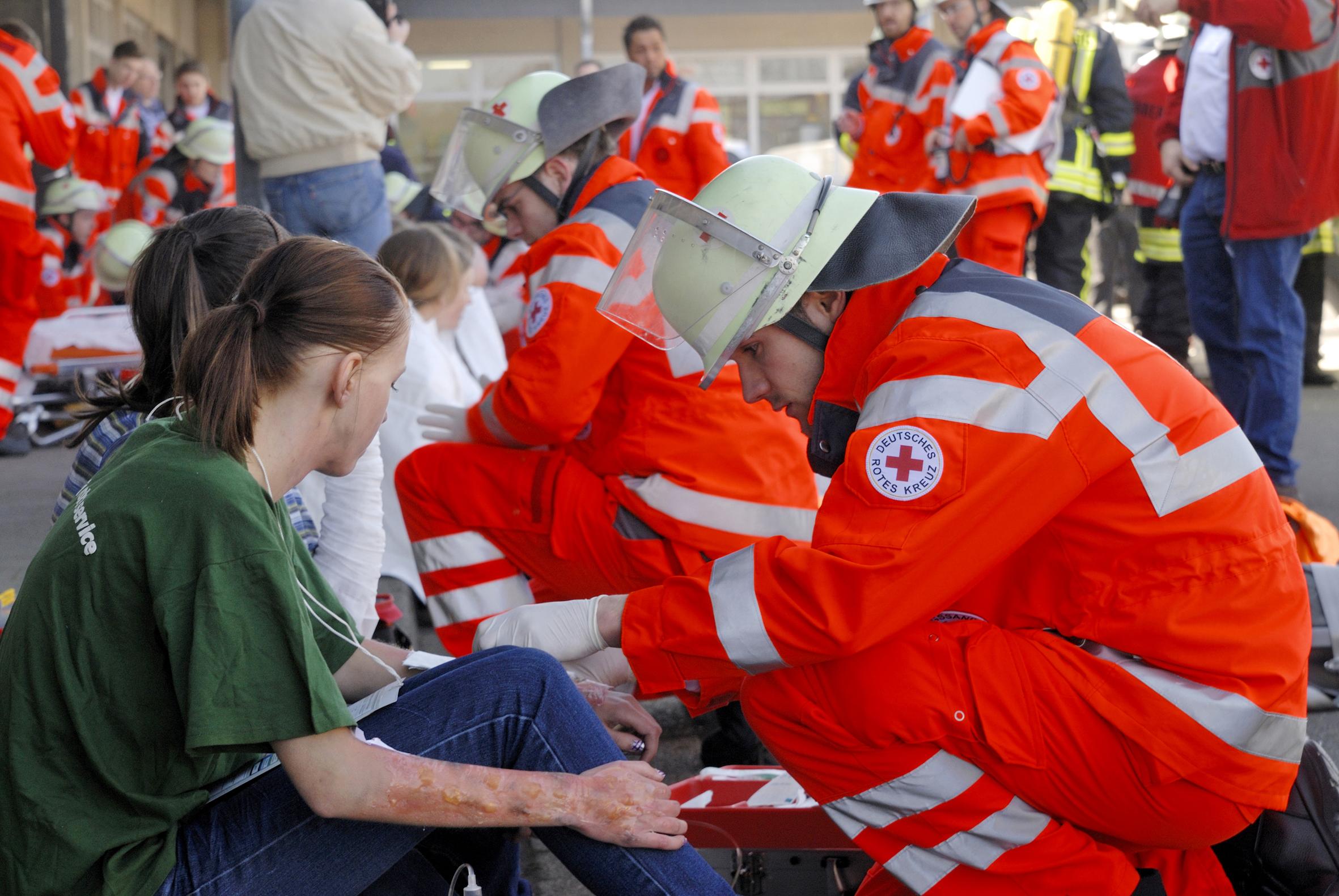 Helferübung: Bereitschaften - Sanitätsdienst; Journalistencamp S